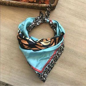 Betsey Johnson silk tiger scarf